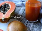 Smoothie papaya, mango zanahoria