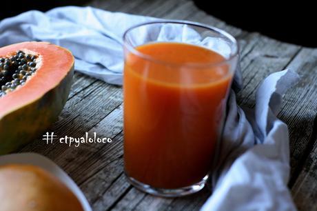 Smoothie de papaya, mango y zanahoria