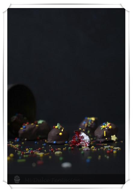 Bombones Explosivos de Frambuesa