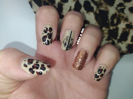 Diseño de uñas con animal print