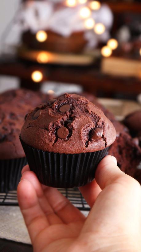 muffins de chocolate magdalena cupcake