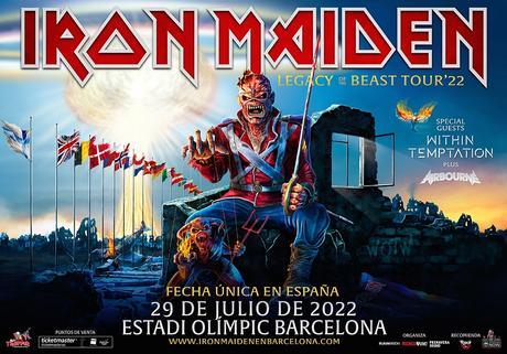 Iron Maiden en Barcelona: concierto pospuesto al 29 de julio de 2022