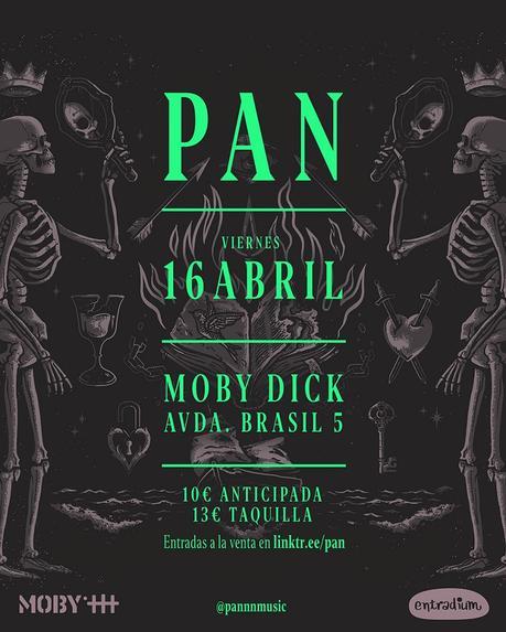 Concierto de Pan en Moby Dick este 16 de abril