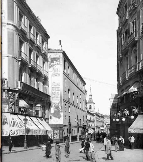 Fotos antiguas de Madrid: La calle Arenal en 1905