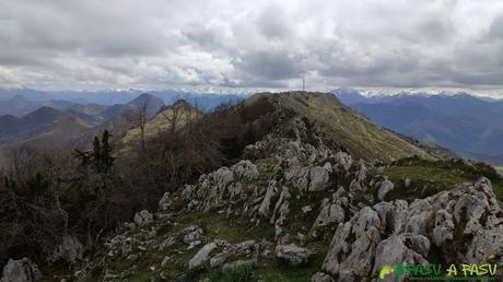Sierra de Peña Mayor hacia el Trigueiro