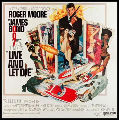 LIVE AND LET DIE (1973) Roger Moore as James. Original six sheet style,  81x81 movie poster. | James bond movie posters, Roger moore, James bond  movies