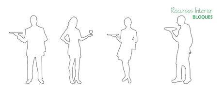 Archivo 20. Descarga silueta de camareros en formato .dwg