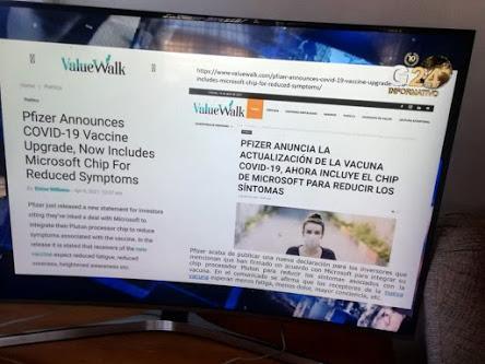 Pfizer integrará microchips de Microsoft en sus vacunas.