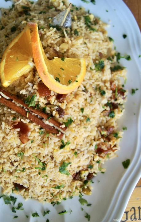 Arroz marroquí con frutos secos