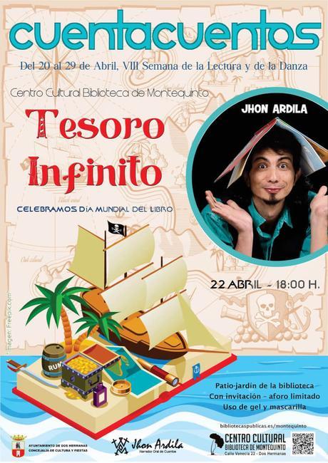 """Las Bibliotecas Cuentan: """"Tesoro infinito"""" – Jhon Ardila (Semana de la Lectura y de la Danza 2021)"""