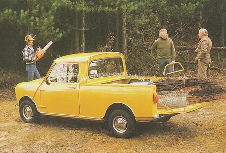 Austin Mini 95 en versión furgón y camioneta del año 1980