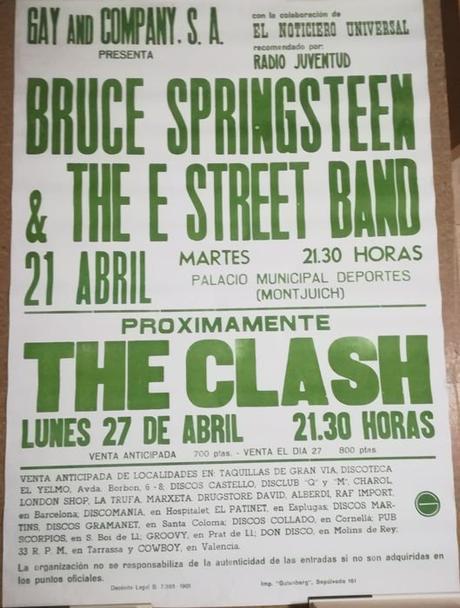 Primer concierto de Bruce Springsteen en España: Barcelona 1981