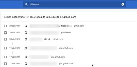 Elimina los datos de un solo sitio web desde el historial de Google Chrome