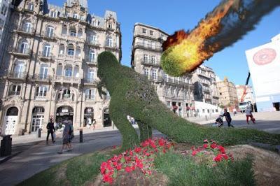 Un meteoritoseto destruye el dinoseto de Vigo