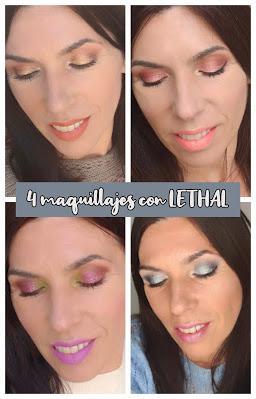 Cuatro maquillajes con LETHAL COSMETICS