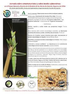 El mundo subterráneo, conferencia en la Sierra de Cazorla