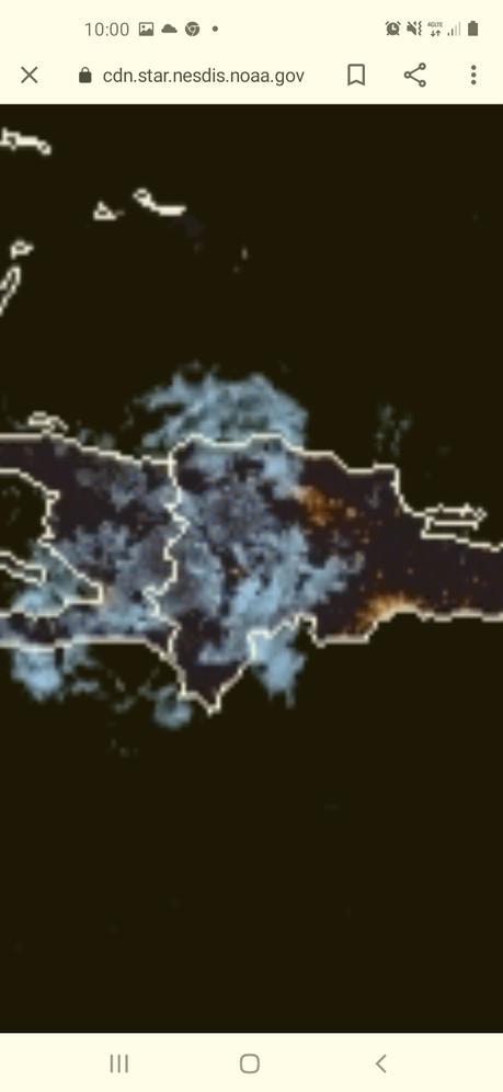 Campos nubosos desde el oeste ocasionarán lluvias en parte del territorio dominicano.