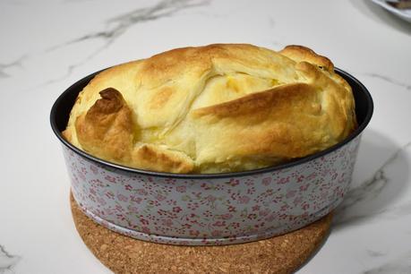 Tortilla de calabacín envuelta en hojaldre