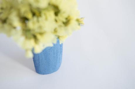DIY: Florero efecto falso cemento
