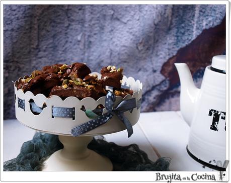 Mini Financiers chocolate y pistachos