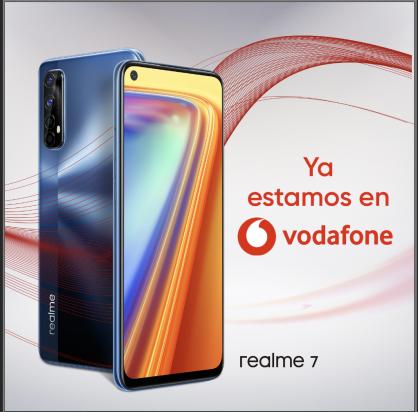 realme 7 disponible a través de Vodafone España