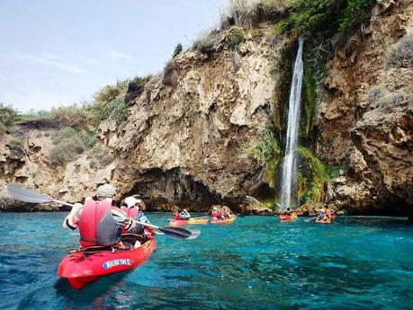 Acantilados de Maro-Cerro Gordo, paraje natural protegido