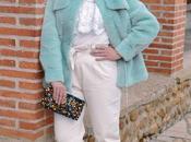Fluffly mint coat