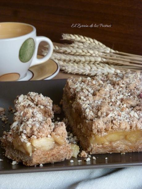 Tarta de manzana crumble