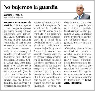 No bajemos la guardia — Opinión Metro Libre de Panamá