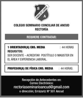 OPORTUNIDADES DE EMPLEOS PARA ORIENTADORES(AS). Semana del 26-04 al 02-05 de 2021.