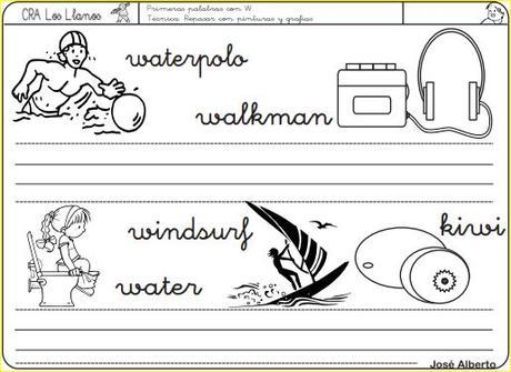 Aprendo a leer y a escribir. La W