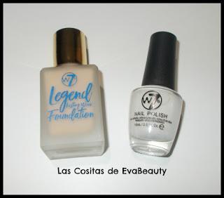 Base Maquillaje Legend y Esmalte uñas de W7 en Primor