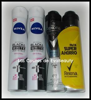 Desodorantes Spray Nivea y Rexona en Primor