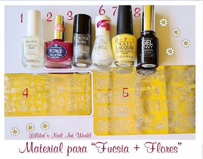Reto Las locas del nail art abril 2021: Flores y fucsia