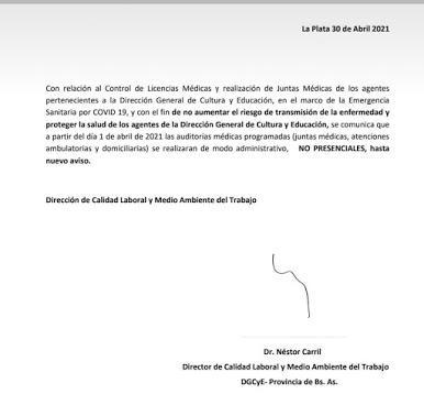 Información sobre Licencias en la provinciad e Buenos Aires