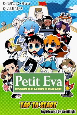 Puchi Eva: EVANGELION@GAME de Nintendo DS traducido al inglés
