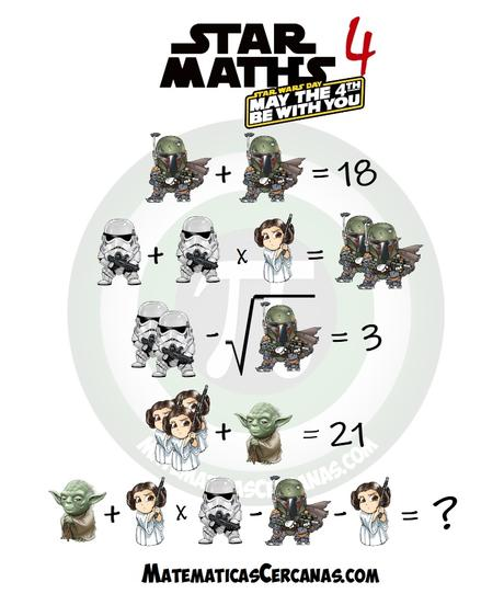 Star Maths 4 – May the 4th be with you – Star Wars Day
