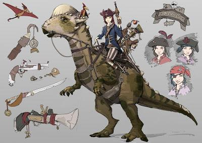 Reimaginando Dino-Riders por Luca Naldini