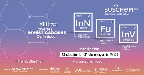 Convocatoria para la XIII Edición de los Premios SusChem para jóvenes investigadores químicos