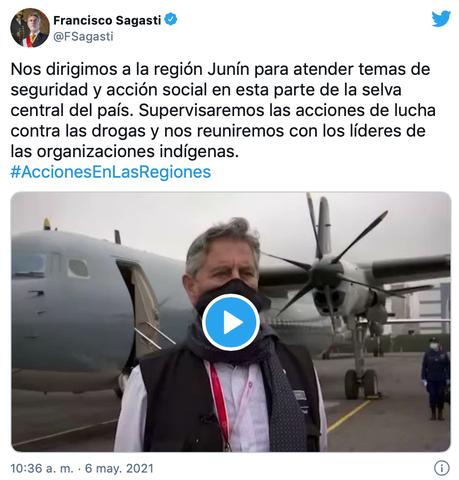 Presidente Sagasti cumplirá visita de trabajo en la región Junín
