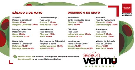 Sesión Vermú: conciertos para el 8 y 9 de mayo