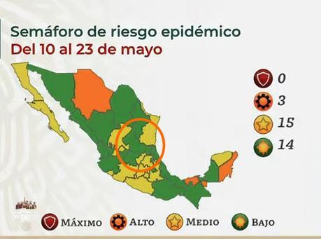 Confirman semáforo verde para San Luis Potosí este 10 de mayo