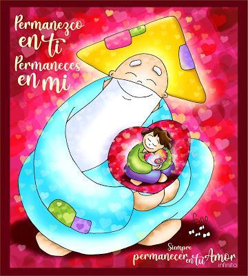 Yo permanezco en Dios y Él permanece en mí. Es una relación de amor infinito