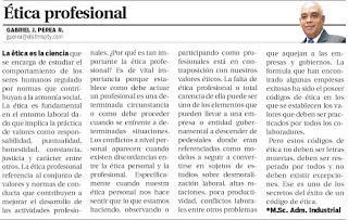Ética profesional — Opinión Metro Libre de Panamá