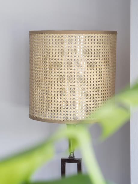DIY Pantalla de lámpara de rejilla cannage