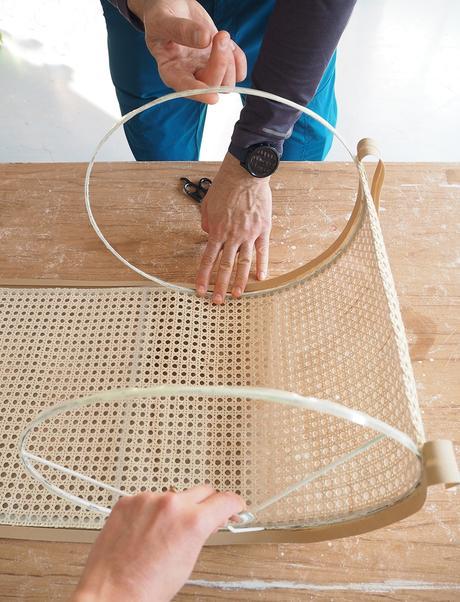 DIY Pantalla de lámpara de rejilla cannage_7
