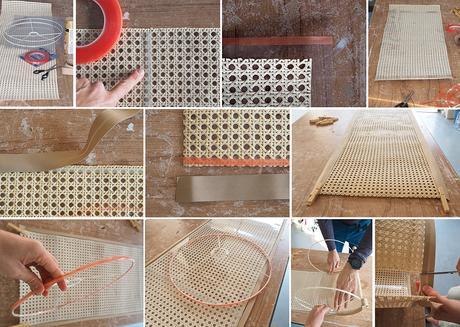 DIY Pantalla de lámpara de rejilla cannage_5