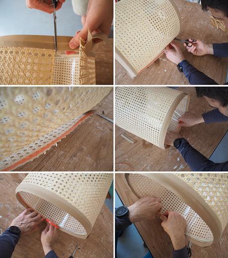 DIY Pantalla de lámpara de rejilla cannage_6