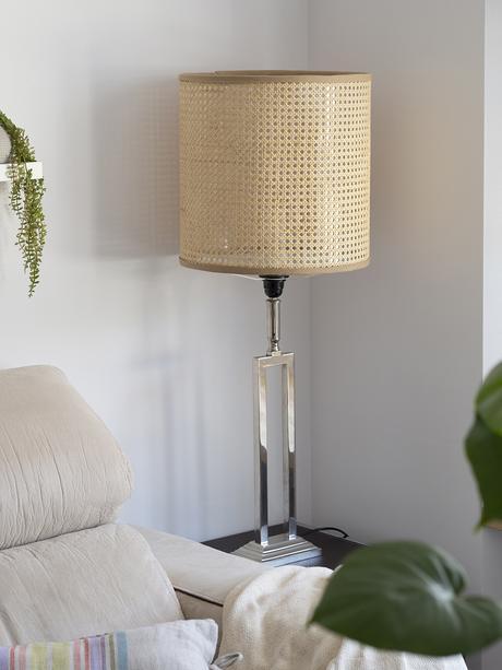 DIY Pantalla de lámpara de rejilla cannage_12