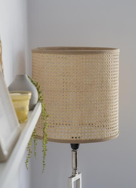 DIY Pantalla de lámpara de rejilla cannage_13